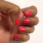 Long lasting nail colour with Shellac at Soho Nail Salon