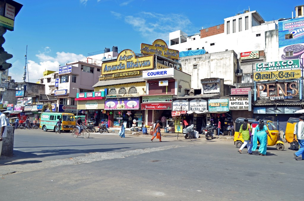 One of many crazy streets in Chennai