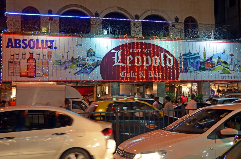 The world famous Leopold Cafe. You'll read about this spot in Shantaram, and you may also remember it as the place terrorists started their attack from a few years ago