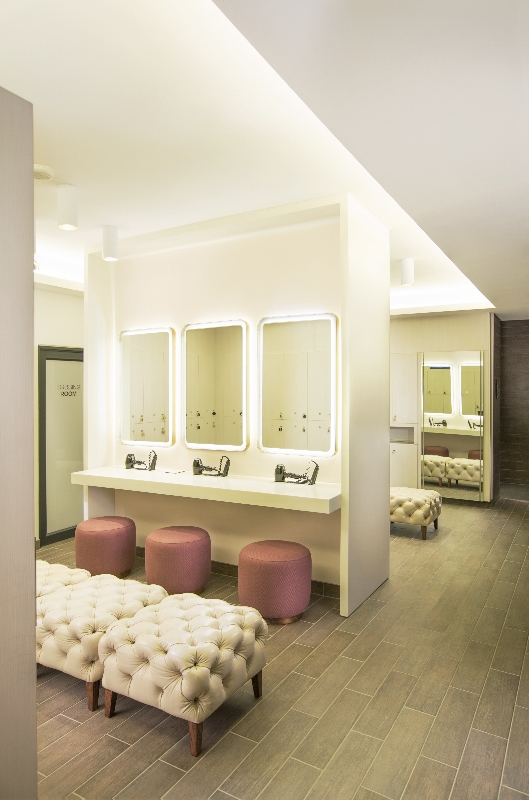HERS changing rooms offer private and comfortable space to refresh after a workout