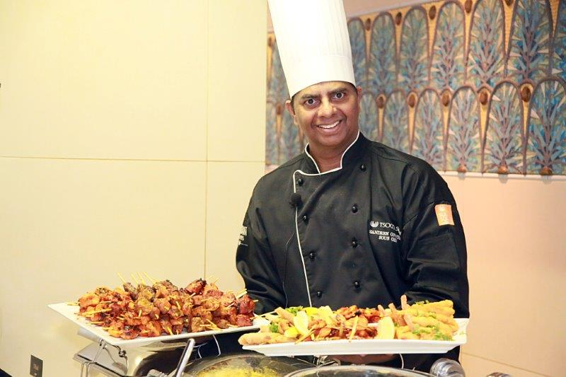 sous chef Sandren Govender