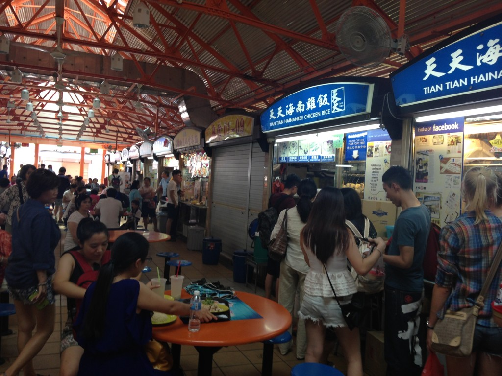 Lunch at Maxwell Hawker Centre- this is a super popular spot for chicken rice