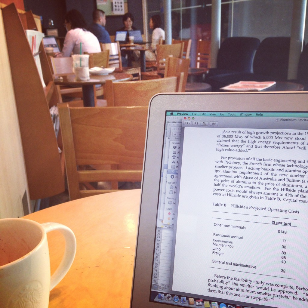 I'm so not a library kind of girl. I love hanging out in coffee shops. My happy place.