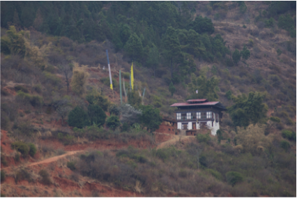 Typical Bhutanese Farm Home
