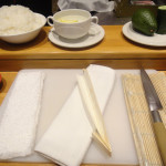 Sushi school at the Hilton in Sandton
