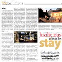 Jozilicious places to stay